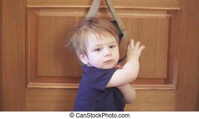 Infant boy traps the coronavirus quarantined home TRX