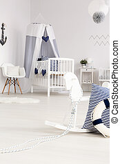 Infant room in coastal style