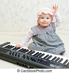 Infant with piano
