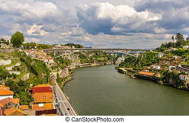 infante, d., henrique, puente, en, porto, portugal