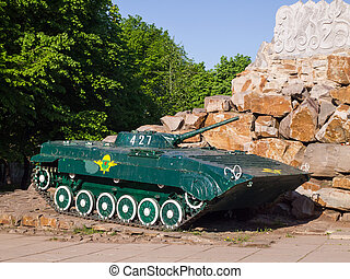 infanteri, strid, bmp-2.memorial, fordon