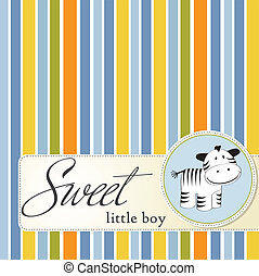 infantil, cartão cumprimento, zebra