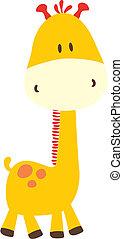 infantil, jirafa