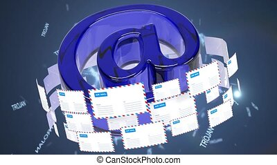 Infected emails. A large number of infected emails. -...