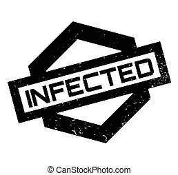 Infected rubber stamp