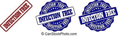INFECTION FREE Grunge Stamp Seals