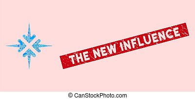 Infectious Collage Impact Arrows Icon with Distress The New Influence Stamp