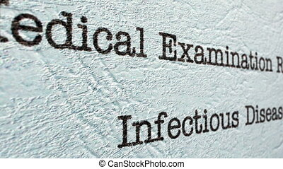 Infectious disease medical report
