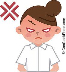 infermiera, arrabbiato, giovane