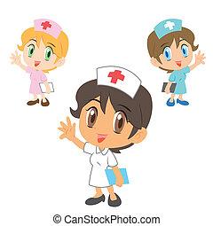 infermiera, carattere