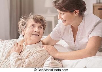 infermiera, utile, giovane