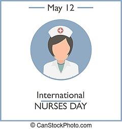 infermiere, internazionale, giorno, 12, maggio