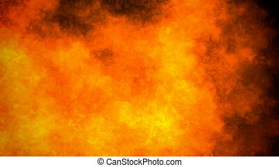Inferno - Fire and heat haze motion background (seamless...