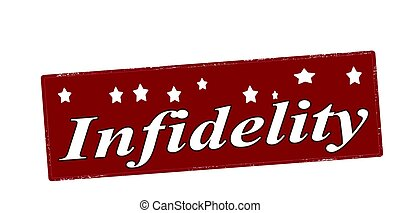 Stamp with word infidelity inside, vector illustration