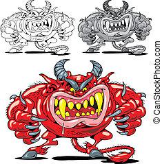 infierno, diablo, rojo