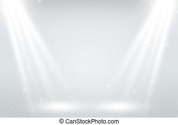 infini, blanc, projecteur, fond