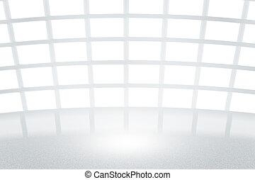 infini, blanc, studio, toile de fond