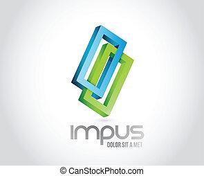 infini, business, conception, forme., illustration