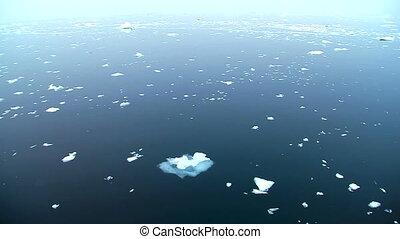 infini, glacé, océan