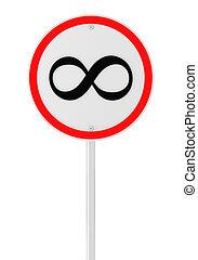 infini, vitesse, panneaux signalisations