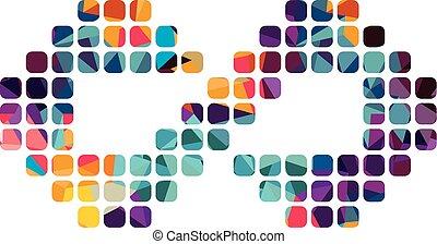 infinidade, logotype, ilustração, tema, vetorial, arte,...