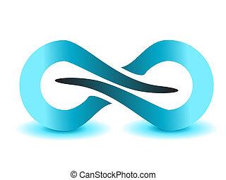 infinidade, símbolo, ilimitado, sinal, vetorial, ícone
