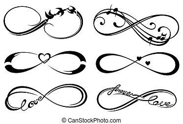 infinità, amore, sempre, simbolo