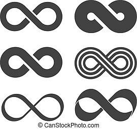 infinità, segno., striscia mobius