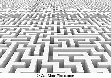 infinité, blanc, maze.
