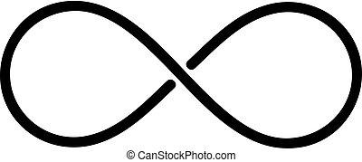 infinité, lignes, illustration, signe, arrière-plan., vecteur, noir, blanc