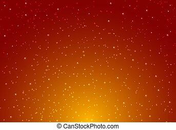infinité, lumière étoiles, espace, étoilé, ciel nuit, arrière-plan., étoiles, rouges, planètes, univers, orange, cosmos, pattern., galaxie, briller