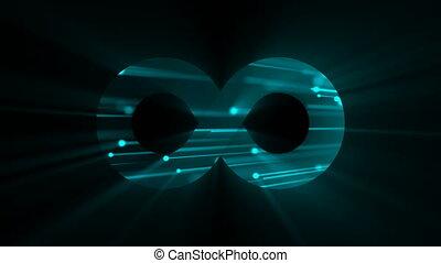 infinité, résumé, fond, numérique, signe., futuriste