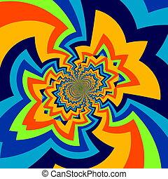 Infinite abstract art illustration. - Pic of big bang. Full...