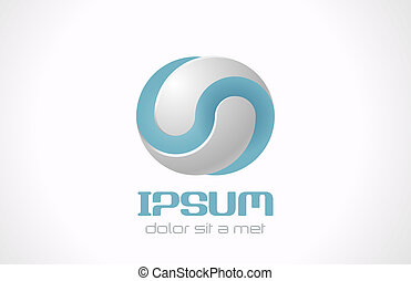 Infinite abstract vector logo template for cosmetics, medicine, pharmacy. Technology concept symbol icon.
