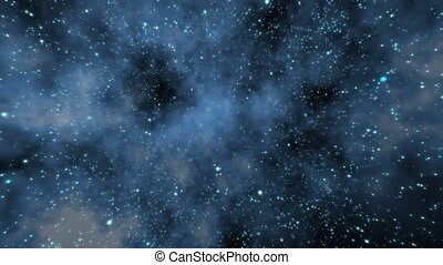 Infinite Cosmos Starfield HD 1080p Flying through a star field in outer space.