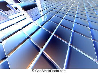 Infinite Cubes - Infinite cubes. 3D rendering.