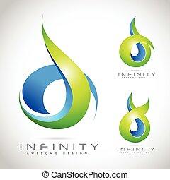 Infinite Logo Vector. Creative Abstract Infinity logo Design.