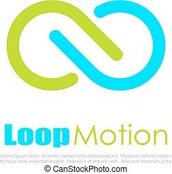 Infinite loop abstract vector logo
