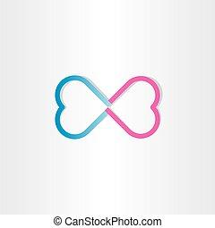 infinite love infinity heart sign