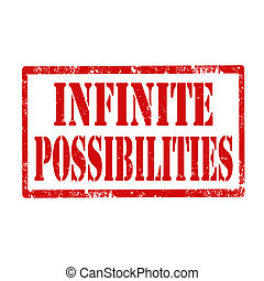 Infinite Possibilities-stamp - Grunge rubber stamp with text...