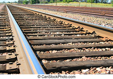Close up of the infinite railroad.