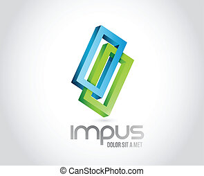 Infinite shape. business illustration design over a white...