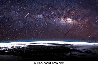 Infinite space background with milky way. This image elements furnished by NASA.