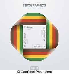 infinite., vektor, design, geschenkband, infographics, template., schleife