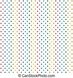 infinito, coloridos, fundo, pontos