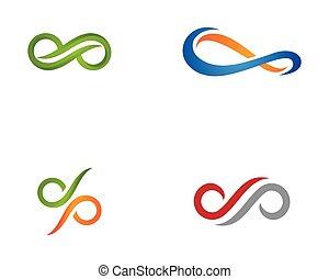 infinito, diseño, vector, ico