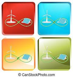 infinito, energia, renovável