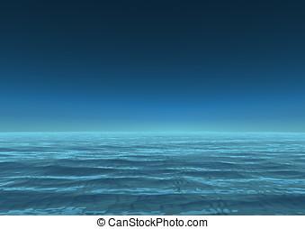 infinito, oceano, sea.