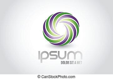 infinity concept logo symbol illustration design