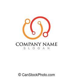 Infinity Design Vector icon illustration Logo